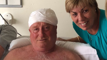 Rodney and Maree Patterson at The Alfred hospital on Saturday.