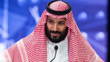 "Saudi Crown Prince Mohammed bin Salman says he ""gets the responsibility"" for the killing of journalist Jamal Khashoggi because it happened under his watch."