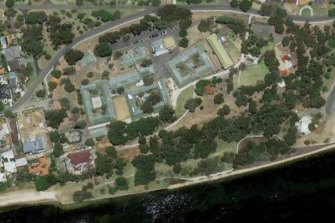 Aerial view of Sunset Hospital.