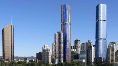The 2016 development application, approved by Brisbane City Council, would see a skyscraper as tall as Skytower rise up over the city.