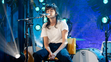 Courtney Barnett performs for MTV Unplugged.