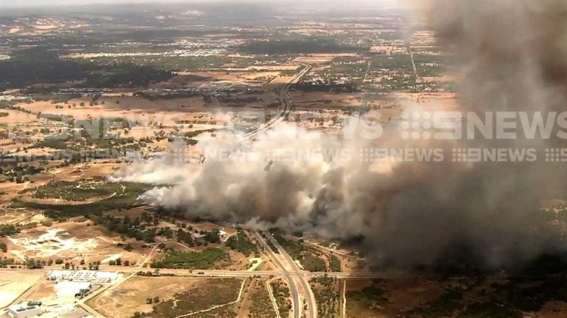 forrestdale blaze downgraded  fire crews bring fire under