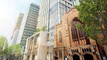 Artist's impression of Investa's 60 Martin Place, Sydney.