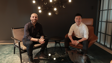 Expanding online trading … TMGM executives Angelo D'Alessio and Lee Yu.