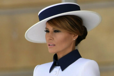 Melania Trump's cream outfit has been compared, unfavourably, to one Princess Diana wore in 1995.