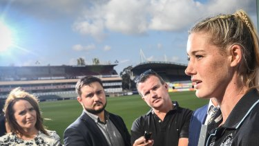 Carlton's Tayla Harris was correct when she said what happened to her online amounts to sexual assault.