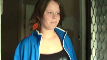 Katrina Bohnenkamp in a police video on October 25, 2012, the day before she was last seen.