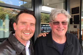 Jason Dasey with Andrew 'Greedy' Smith from Mental As Anything.
