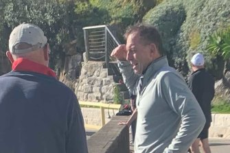 The moment at Fairy Bower that got Tony Abbott into trouble.