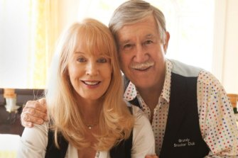 Joy Chambers Grundy and her late husband, television pioneer Reg Grundy.