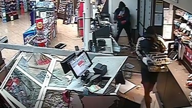 CCTV images of the ram raids inMount Cotton, Ormeau and Holmview.