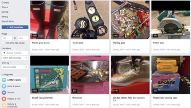 Other products for sale on Mr Weigall's Facebook Marketplace account.