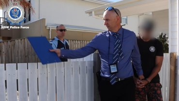 Michael Gordon is arrested at a home in Casuarina.