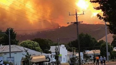 Fire bore down on Walwa township this week.