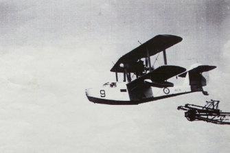 A Walrus amphibian plane.