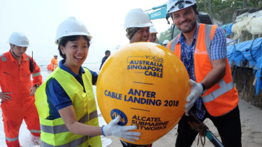 Vocus' Singapore Perth cable landed in Anyer, Indonesia earlier this month.