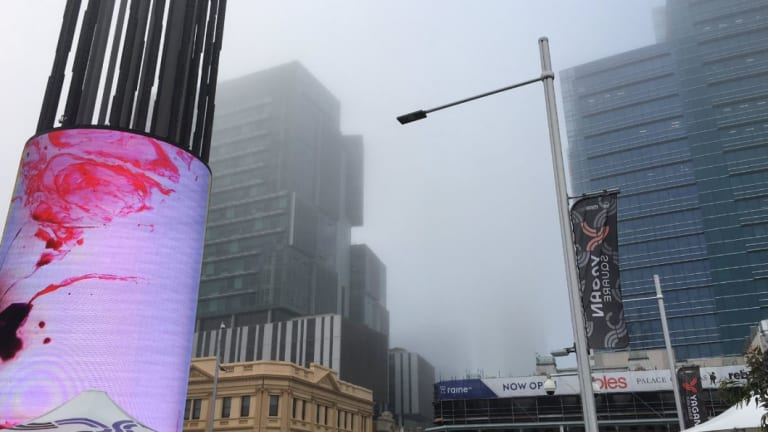 Fog is blanketing the Perth metro area.