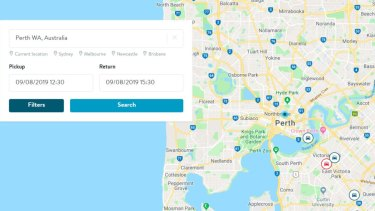 Eight Perth car owners have already signed up to rent out their vehicles.