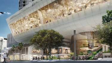 Artist's impression of the George Street frontage to the Queen Wharf resort complex.