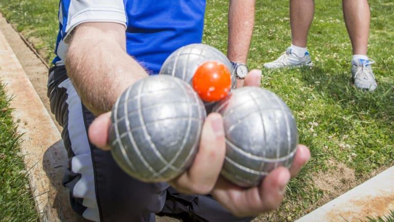 Petanque balls.