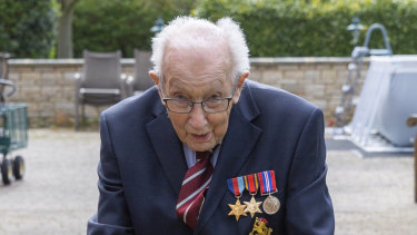 Captain Tom Moore, a 99-year-old war veteran, raises more than $51 million for the NHS.