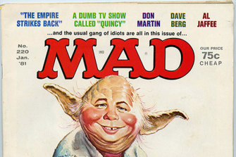 MAD magazine's Star Ward parody cover from January 1981.