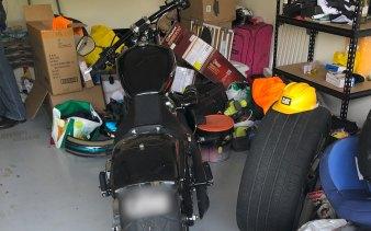 A Harley Davidson motorbike was also found during the alleged bikie bust.