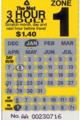 Scratch ticket.