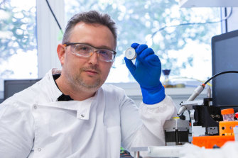 UQ's Dr David Muller has been spearheading the clinical trials on the high-density microarray patch.