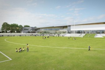 An artist's impression of Hawthorn's planned Dingley training base.