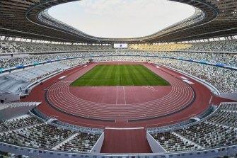 The Tokyo 2020 Olympic stadium.
