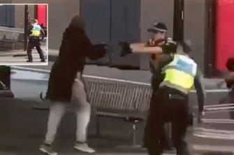 The moment police shot Bourke Street killer Hassan Khalif Shire Ali on Friday, November 9.