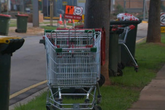 Trolley dumping is not an uncommon sight in urban Sydney.