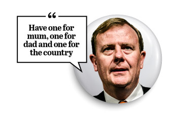 Peter Costello's baby bonus came with this advice in 2004.