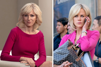 Long-time friends Naomi Watts and Nicole Kidman both play former Fox News host Gretchen Carlson in projects that are nominated for Golden Globe awards.