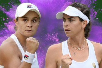 Ash Barty and Ajla Tomljanovic will meet in the Wimbledon quarter-finals.