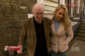 Leanne Edelsten with Clive James. She revealed they had an eight-year affair in 2012.