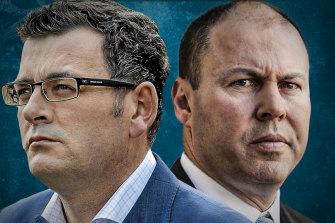 War of words: Daniel Andrews and Josh Frydenberg spar over financial assistance.