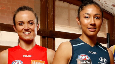 Daisy Pearce and Darcy Vescio had been respectively for and against the new deal.