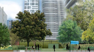 The proposed sewage pump station at Alexander Smith Place.