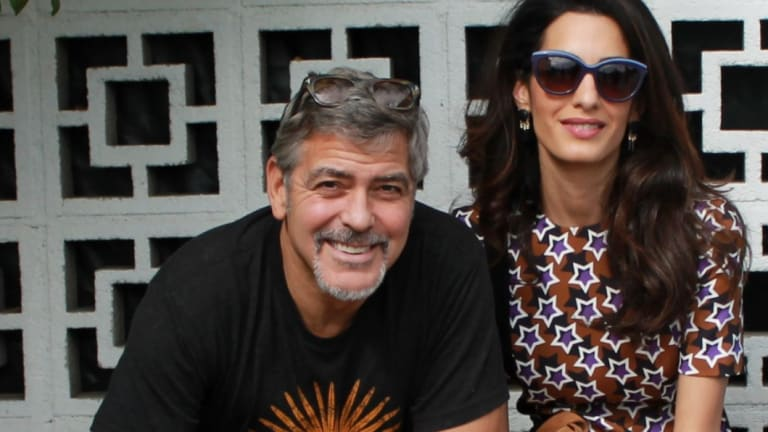 Amal Clooney and her husband George.
