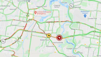 Significant traffic queues following crashes in Sydney's west