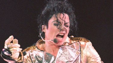 Michael Jackson during the Singapore-stop of his HIStory tour in October.