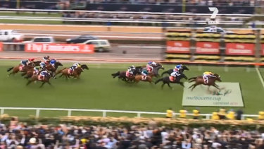 Flashback: The famous 2011 Melbourne Cup finish.