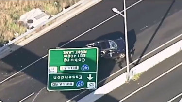 The sign that collapsed on the Tullamarine Freeway.