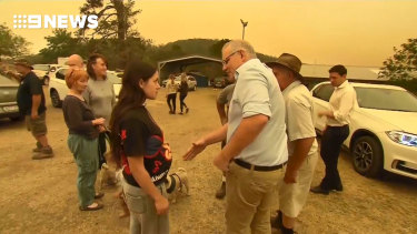 Prime Minister Scott Morrison received a cold response from residents of fire-devastated Cobargo in the 2019/20 fires.