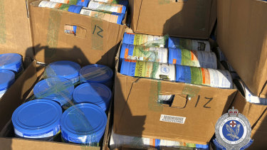 The baby formula haul, seized by police August 2018.