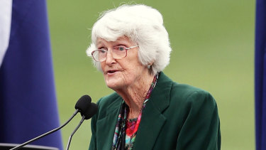 Norma Fleming, pictured here in 2017, has died aged 84.