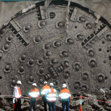 The $50 million boring machine named Matilda on the Clem7 tunnel. There would be more of these if planners could start from scratch.