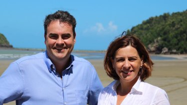 Member for Whitsunday Jason Costigan, pictured with LNP leader Deb Frecklington, was kicked out of the party last year.